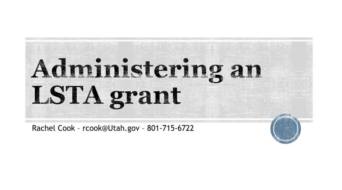 Administering an LSTA Grant Webinar