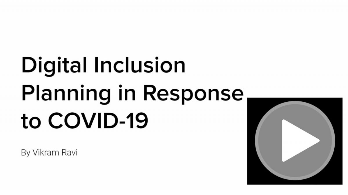 Digital Inclusion Planning in Response to COVID-19 Webinar