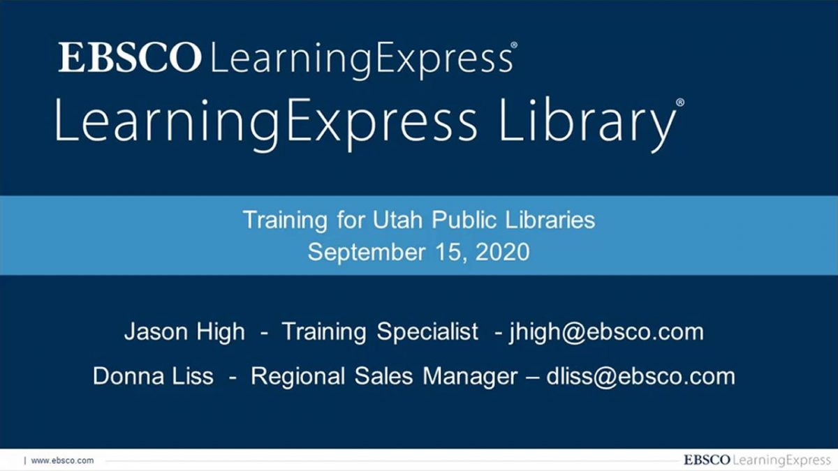 Introduction to LearningExpress Library