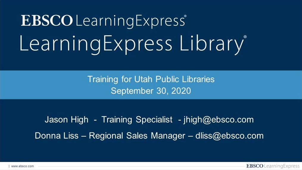 LearningExpress Library Deep Dive Webinar