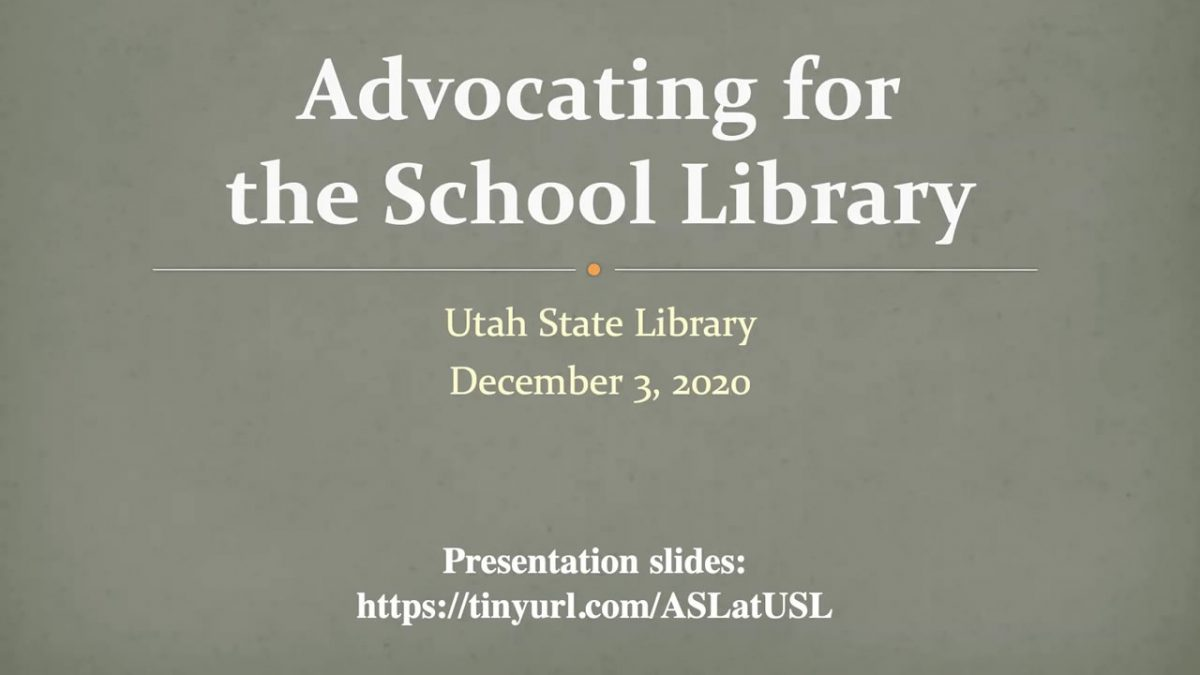 Advocating for the School Library Webinar