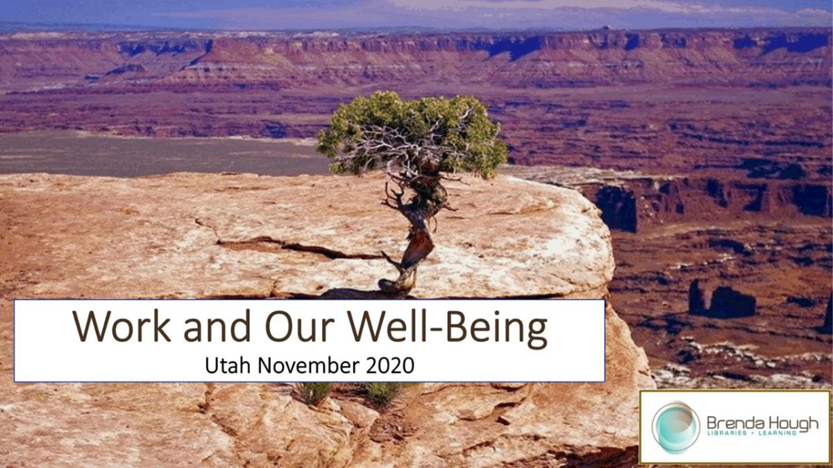 Work and Our Well-Being Webinar