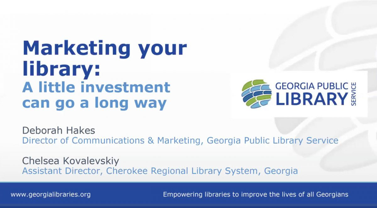 Marketing Your Library Webinar