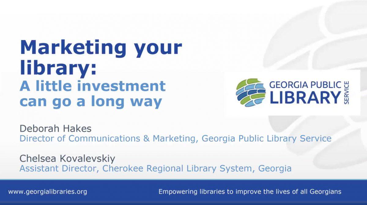 Marketing Your Library Webinar