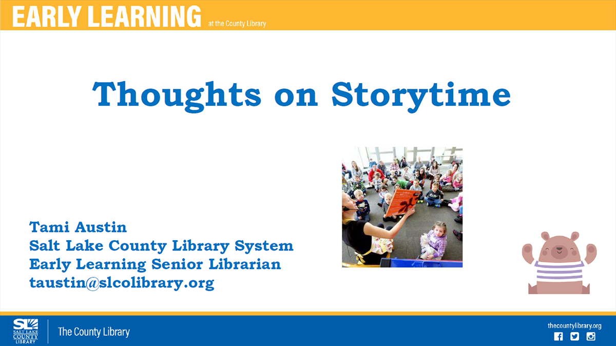 Thoughts on Storytime Webinar